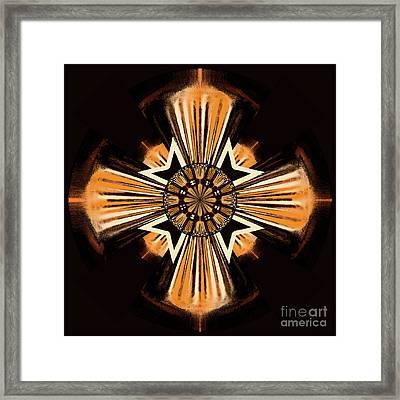 Cross Framed Print by Gaspar Avila