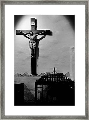 Cross Mission San Diego De Alcala Framed Print by Christine Till