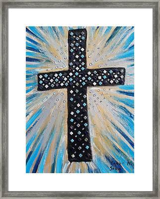 Cross Of The Dew Filled Morning Framed Print by Seaux-N-Seau Soileau