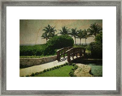 Cross Over Framed Print by Lauren Goia
