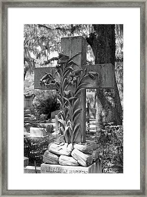 Cross Series IIi In Black And White Framed Print by Suzanne Gaff