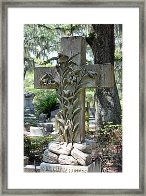 Cross Series IIi Framed Print by Suzanne Gaff