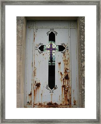 Cross To Cross Framed Print by Nell Werner