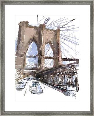Crossing Over Framed Print by Russell Pierce