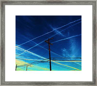 Crossing Points Framed Print by Daniele Smith
