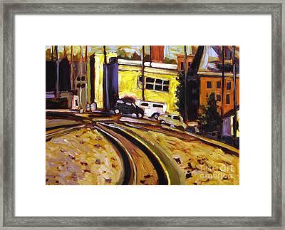 Crossing Rails Framed Print by Charlie Spear