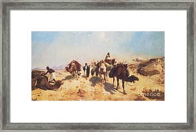 Crossing The Desert Framed Print by Jean Leon Gerome