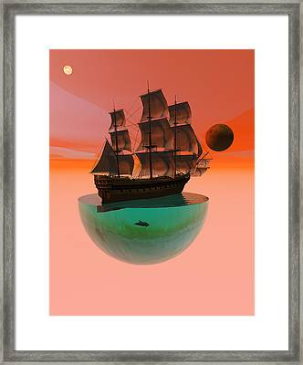 Crossing The Expanse Framed Print by Claude McCoy