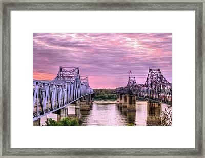 Crossing The Mississippi Framed Print by JC Findley