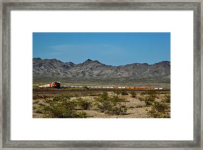 Crossing The Mojave Framed Print by Mountain Dreams