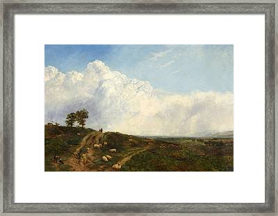 Crossroads Over The Heath Framed Print by George Vicat Cole