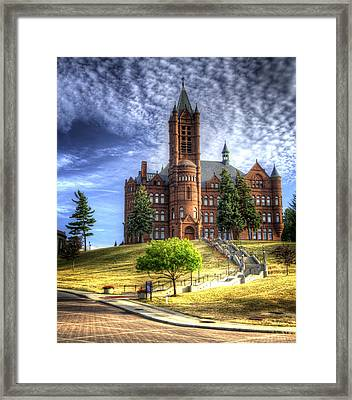 Crouse Memorial College Building At Syracuse University Framed Print by Vicki Jauron