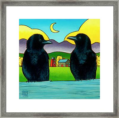 Crow Tales Framed Print by Stacey Neumiller