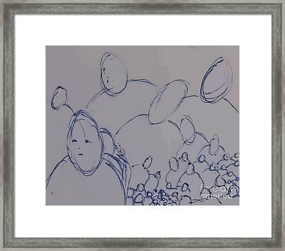 Crowd Framed Print by John Malone