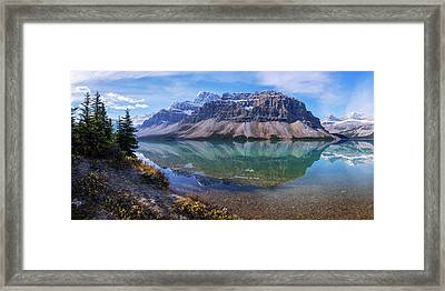 Crowfoot Reflection Framed Print by Chad Dutson