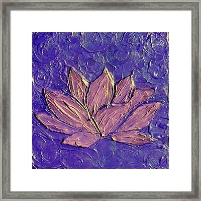 Crown Chakra Art Purple Lotus Flower Framed Print by Chakra Art