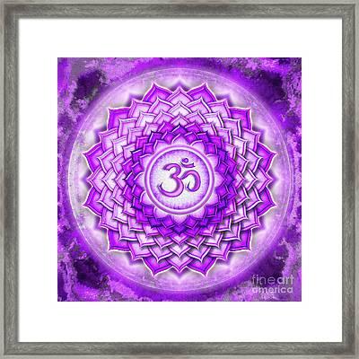 Crown Chakra - Series 5 Framed Print by Dirk Czarnota