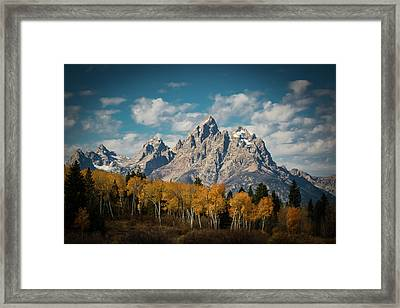 Crown For Tetons Framed Print by Edgars Erglis