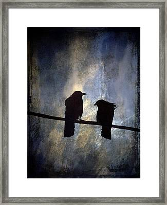 Crows And Sky Framed Print by Carol Leigh
