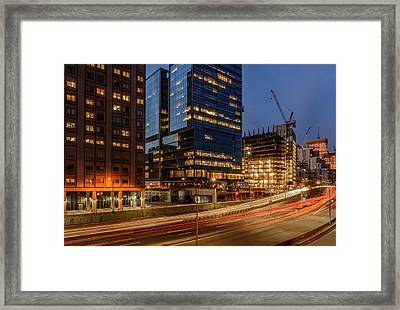 Sunset Cruising On The East River Drive 2 Framed Print by Kenneth Laurence Neal