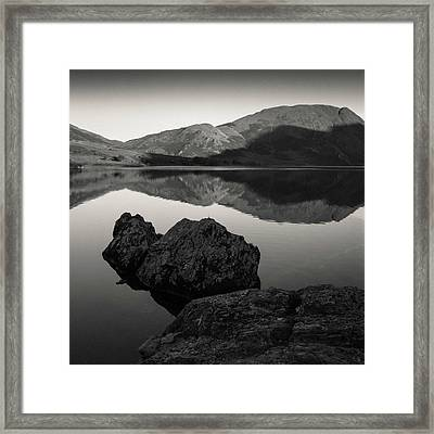 Crummock Water Reflection Framed Print by Dave Bowman
