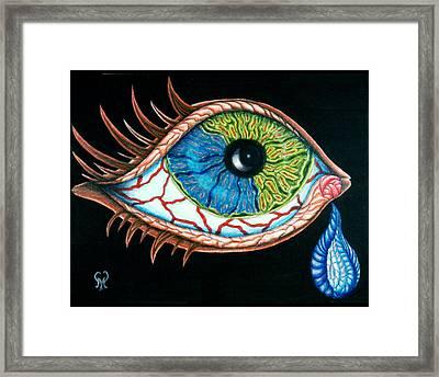 Crying Eye Framed Print by Karen Musick