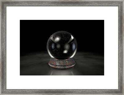 Crystal Ball Dark Framed Print by Allan Swart