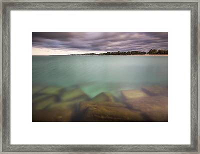 Crystal Clear Lake Michigan Waters Framed Print by Adam Romanowicz