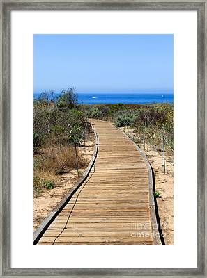 Crystal Cove State Park Wooden Walkway Framed Print by Paul Velgos