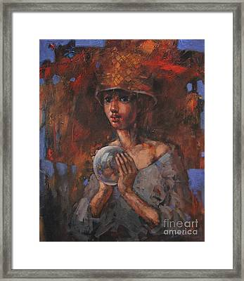 Crystal Thoughts Framed Print by Michal Kwarciak