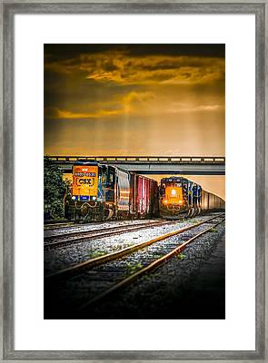 Csx Two For One Framed Print by Marvin Spates