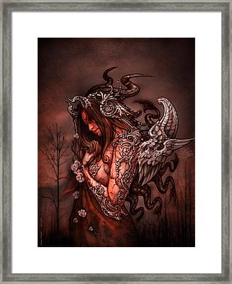 Cthluhu Princess Framed Print by David Bollt