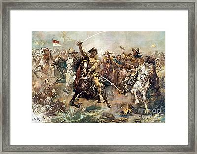 Cuba: Rough Riders, 1898 Framed Print by Granger