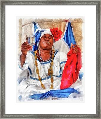 Cuban Character Framed Print by Dawn Currie