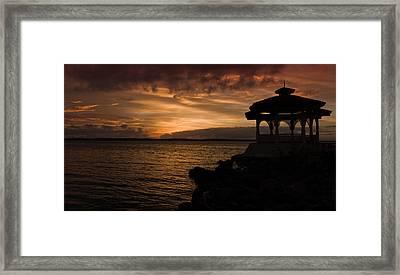 Cuban Sunset Framed Print by Peter Verdnik