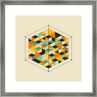 Cube 2 Framed Print by Jazzberry Blue