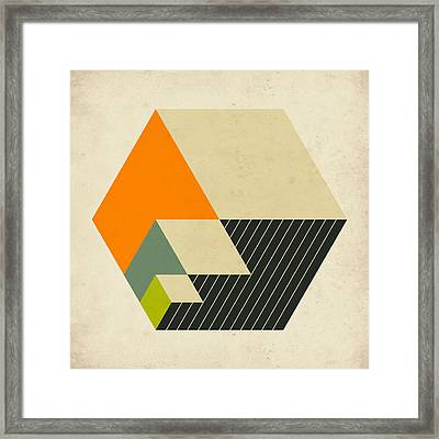 Cubes 15 Framed Print by Jazzberry Blue