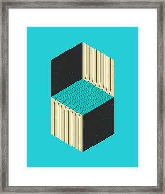 Cubes 7 Framed Print by Jazzberry Blue