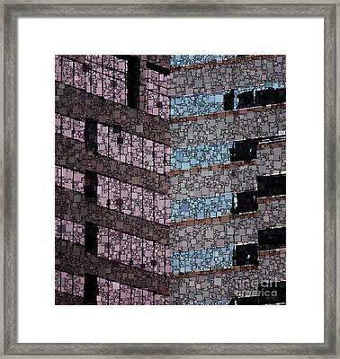 Cubicle Farm Framed Print by Lisa Schneider