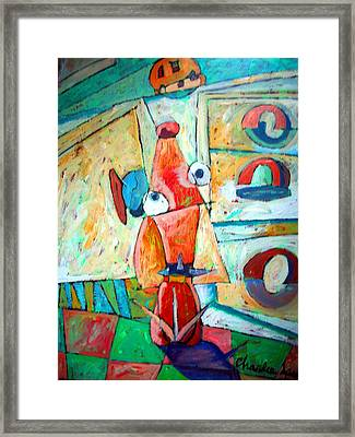 Cubist Cookie Framed Print by Charlie Spear