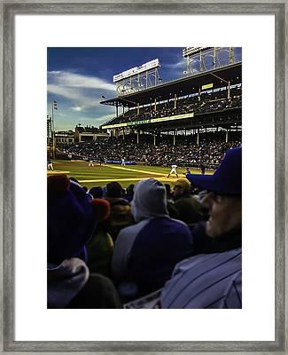 Cubs Game Framed Print by Britten Adams