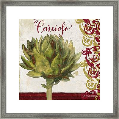 Cucina Italiana Artichoke Framed Print by Mindy Sommers
