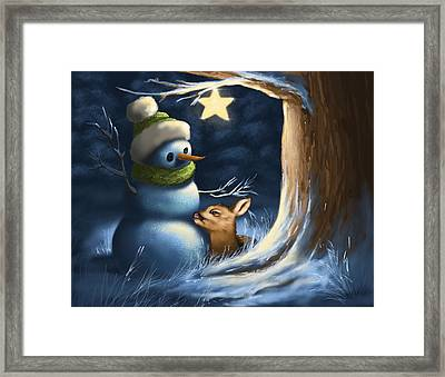 Cuddle Framed Print by Veronica Minozzi
