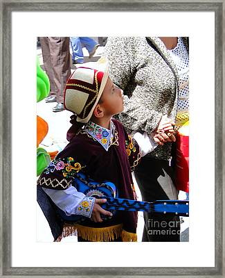 Cuenca Kids 155 Framed Print by Al Bourassa