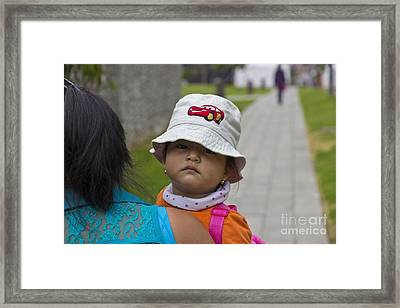 Cuenca Kids 707 Framed Print by Al Bourassa