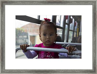 Cuenca Kids 711 Framed Print by Al Bourassa