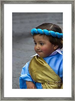 Cuenca Kids 740 Framed Print by Al Bourassa