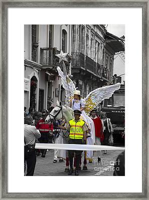 Cuenca Kids 742 Framed Print by Al Bourassa