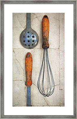 Culinary II Framed Print by Cynthia Decker