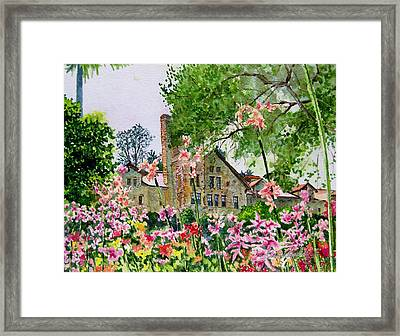 Culinary Institute At Greystone Framed Print by Gail Chandler